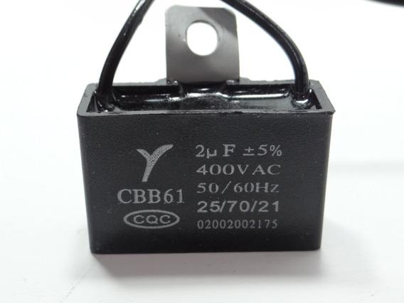 Kit 2 Capacitor 2uf X 400vac +- 5% Cbb61