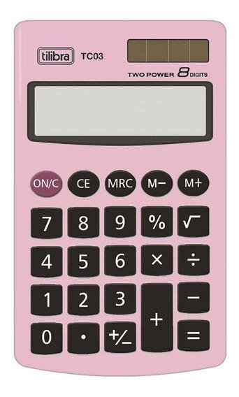 Calculadora Tc03 Rosa Claro Tilibra