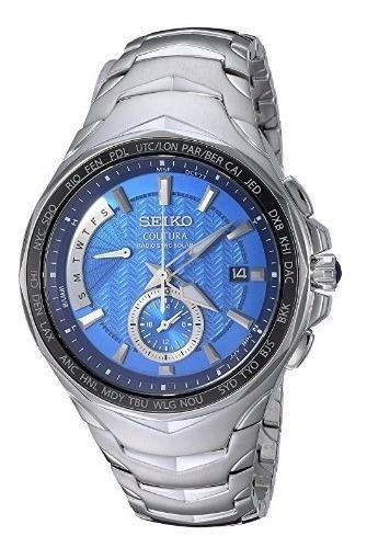 Relógio Seiko Coutura Radio Sync Azul/prata World Timer