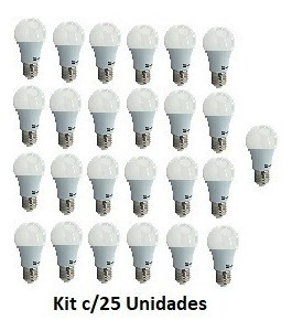 Lampada Led Bulbo 4,9w Branca - Kit C/25 Lampadas