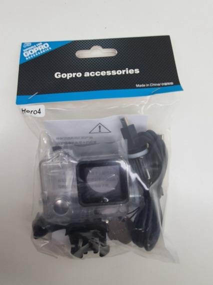 Caixa Estanque Gopro Hero 3, 4 Com Carregador Aprova D