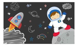 Painel Festa Aniversário Astronauta - 2,0x1,10m