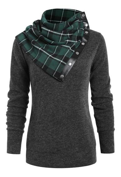 Sudaderas Para Mujer Dressfo Bib Knit Long Sleeve Shirt
