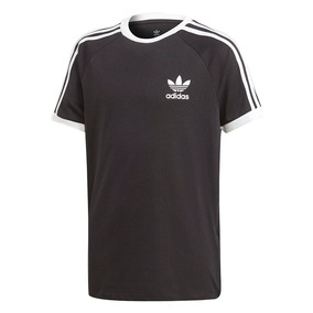d0a83689dfa Camiseta adidas Originals Infantil 3 Stripes Preta Dv2902