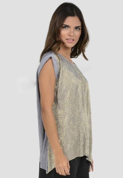 Blusas Mujer Exotik Con Destellos Dorados