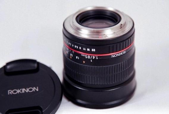 Lente Rokinon 85mm F1.4 As If Umc Full Frame Lens Cine