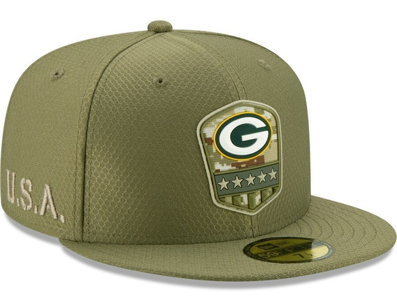 Gorra New Era Green Bay Packers 59fifty Salute To Service Pl