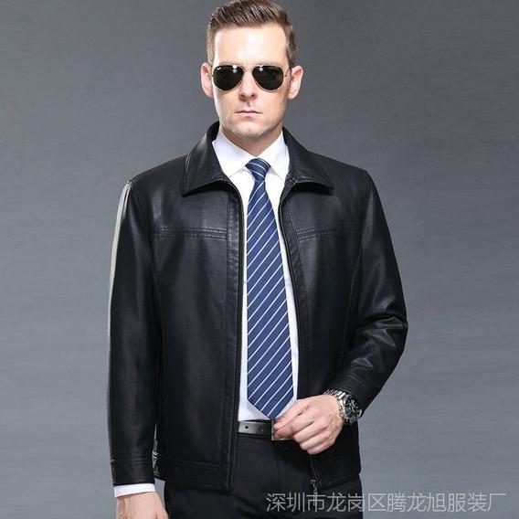 Jaqueta Masculina Importada Couro Bovino Excelente Qualidade