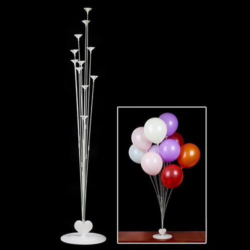 Imagen 1 de 3 de Soporte X 11 Globos - Base Plástica - Universo Mágico