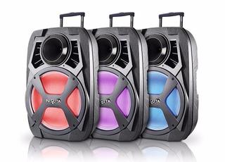 Caja Nisuta Karaoke Sd Fm Usb Bluetooth Bateria + Microfono