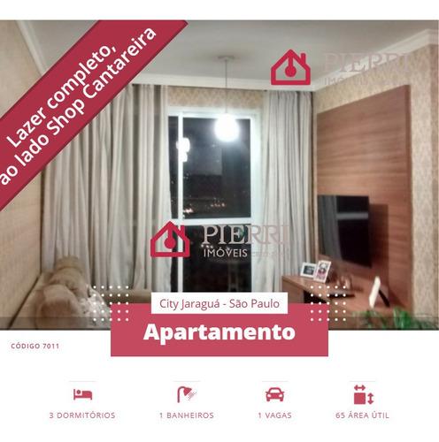 Apto City Jaraguá 3 Dorms (1 Suíte), Lazer Com Piscina - 7011