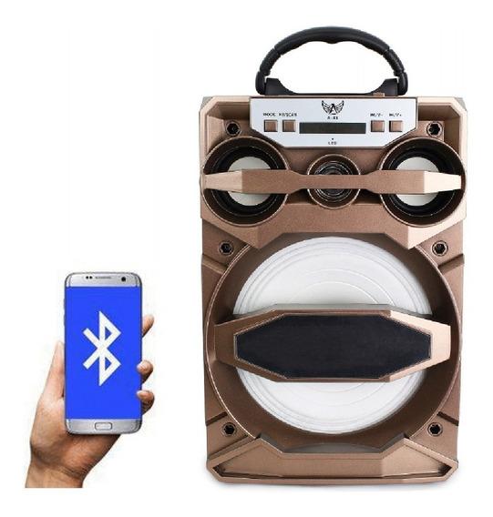 Caixa De Som Amplificada Portátil Bateria Bluetooth Fm