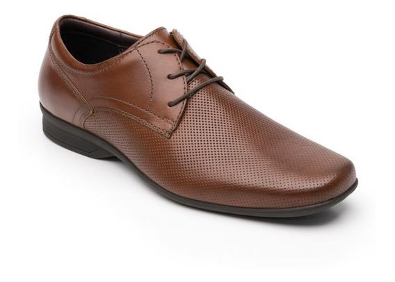 Zapato Flexi Hombre 402206 Tan Oficina Vestir