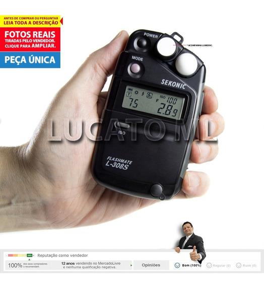 Fotômetro Flashmate Sekonic L308s Com Caixa Funcionando 100%
