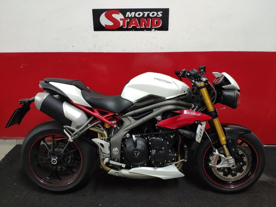 Triumph Speed Triple 1050 R 1050 R Abs 2017 Branca Branco