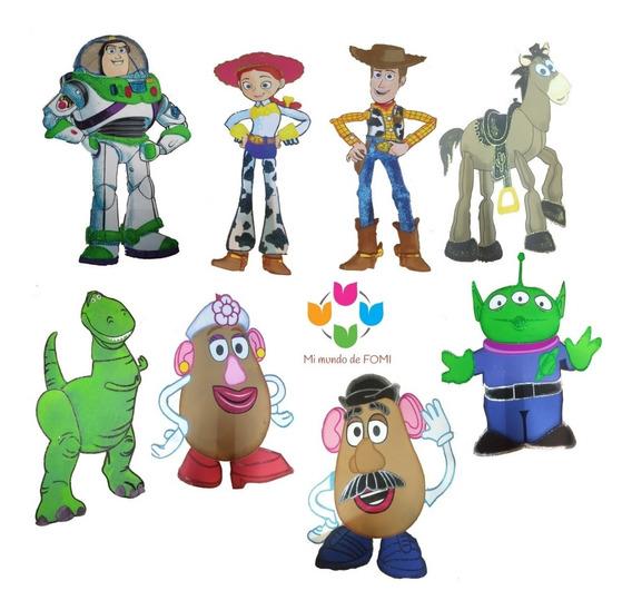 Foamy/goma Eva: Toy Story.8 Figuras De 1m.