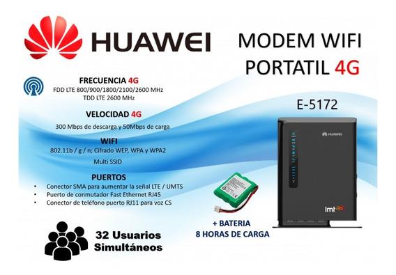 Modem Huawei E5172 4g Para Digitel & Movistar Wifi