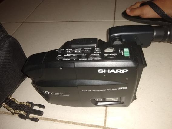 Camera Filmadora Sharp Vl-e300b Ótimo Estado