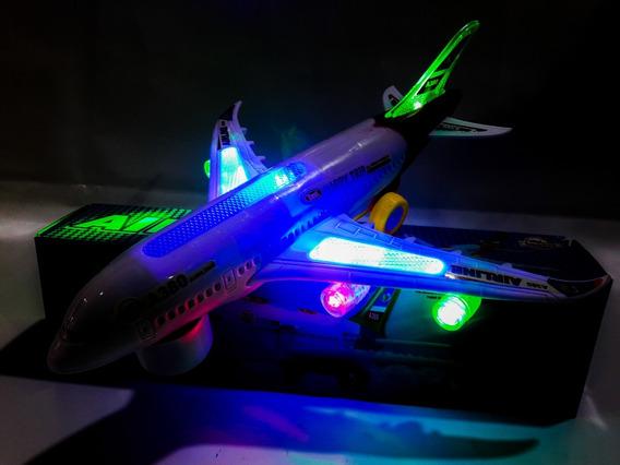 Avião Air Liner A-380-200 Brinquedo C/ Luz Som E Movimento !