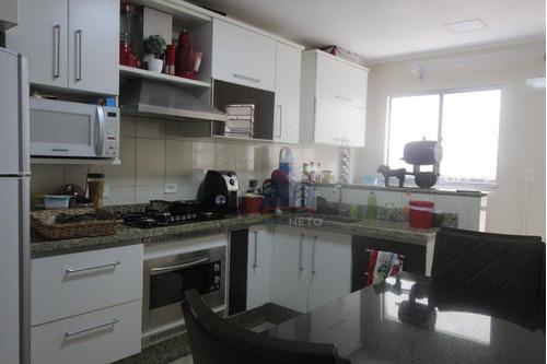 Apartamento Com 2 Dormitórios Sendo 1 Suíte, 102 M² - Venda Por R$ 340.000 Ou Aluguel Por R$ 1.700/mês - Parque São Vicente - Mauá/sp - Ap1155