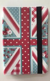 Capa Tablet Universal 7 Polegadas Estampa Inglaterra Floral