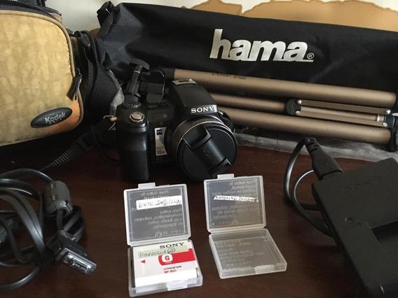 Câmera Digital Sony Dsc H7 + Tripé Hama Star 700ef 2bat.