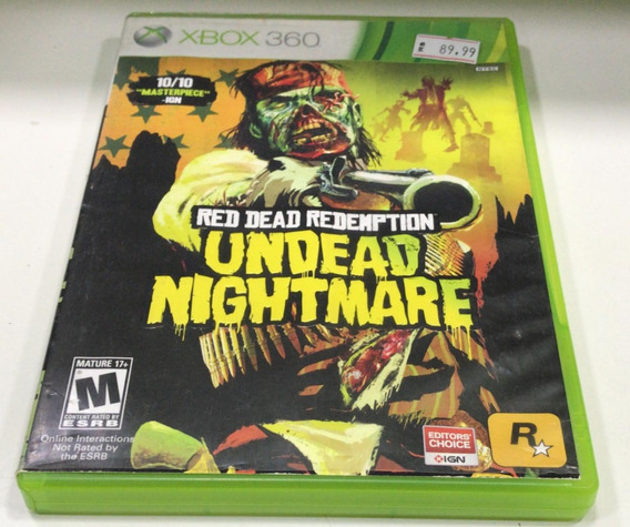 Red Dead Redemption: Undead Nightmare 360 Semi Novo