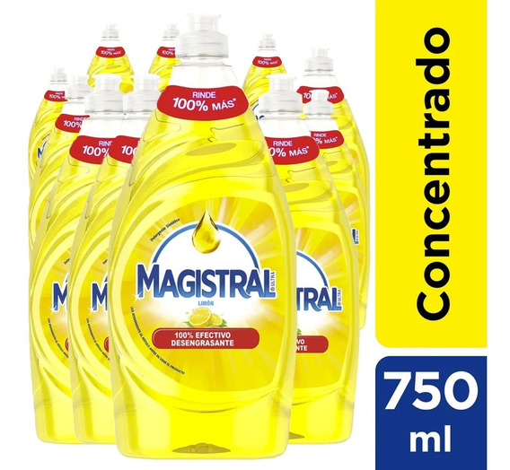 Pack 12 Lavaloza Concentrado Magistral Limón 750 Ml