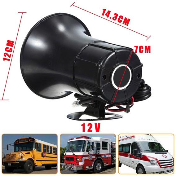 50 W Segurança Do Carro Aviso Alarme Alto-falante Chifre 7-