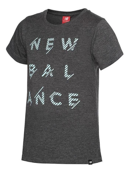 Remera New Balance Sportstyle Gris Topo Kids Rcmdr
