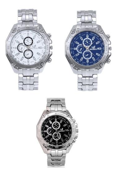 Relógio Analógico Masculino Orlando Promoção Compre 2 Leve 3