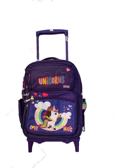 Mochila Con Carro Lsyd Unicornio 18``