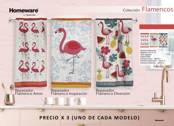 Repasador Algodón 45x65 Colección Flamenco X 3 Homeware