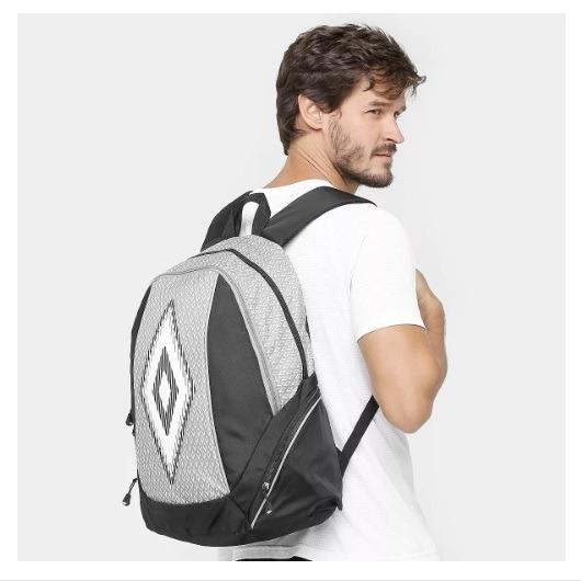 Mochila Umbro Backpack Cup Preto/cinza + Nota Fiscal