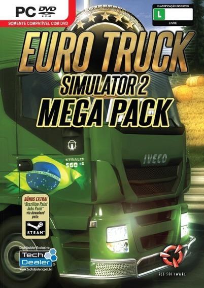 Jogo Pc Euro Truck Simulator 2 Mega Pack