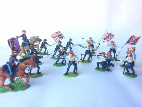 Soldaditos De Plástico Norteamericanos Pintados A Mano!