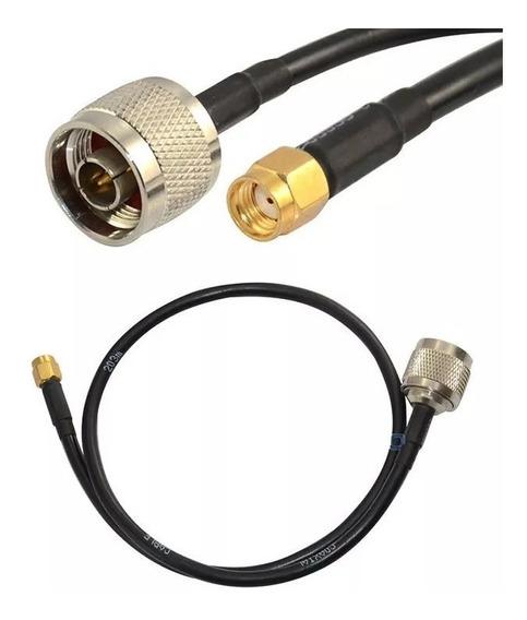 10 Cabo Pigtail Rg58 Conector N Macho X Rp-sma Macho 50cm