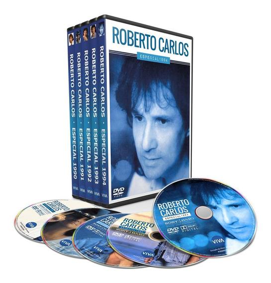 Box 10 Dvd Roberto Carlos - Especial Anos 1990 Até 2000