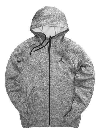 Chamarra Jordan Alpha Therma 23 Full Zip Grey Hoodie (l/g)
