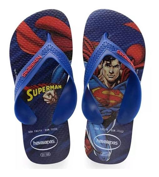 Havaianas Kids Max Heróis Superman Azul Naval