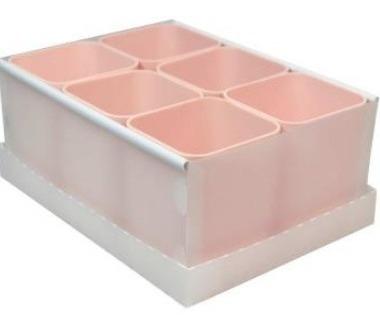 Caixa Organizadora C/06 Divisorias Rosa Dello
