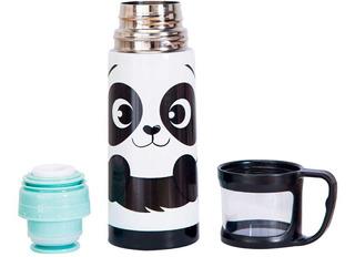 Garrafa Squeeze Térmico Panda Fofo Para Viagem C Tampa Uatt
