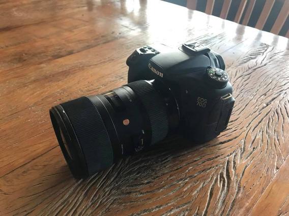 Canon 70d + Sigma 18-35 1.8 (entrego Em Mãos Em Sp)
