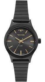 Relógio Feminino Technos Boutique 2035mqj/4c 30mm Aço Preto