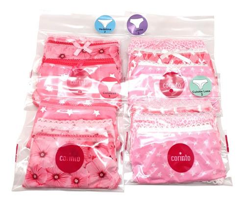 Culotte Less Microfibra Navidad 6 Packs X3 + Cuotas