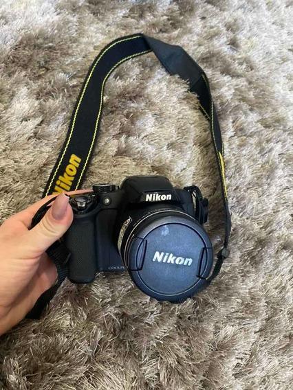 Câmera Semi Nova Nikon , 42x Wide Optical, 4.3-180 Mm