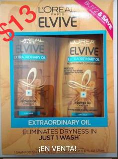 Elvive Combo Extraordinary Oil Dry Hair Cabello Seco