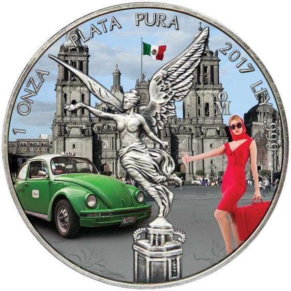 Moeda Fusca Taxi 1 Onza Mexico Prata 999