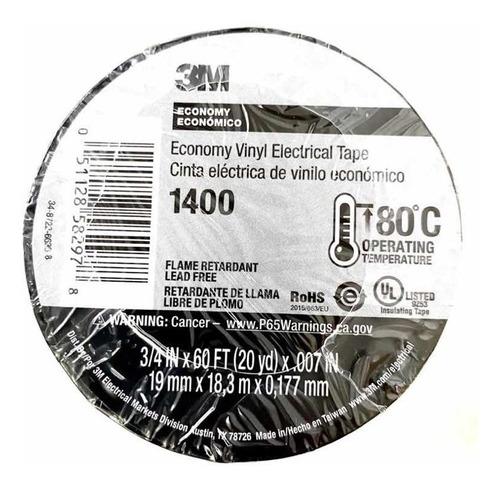 Teipe Negro 3m Original