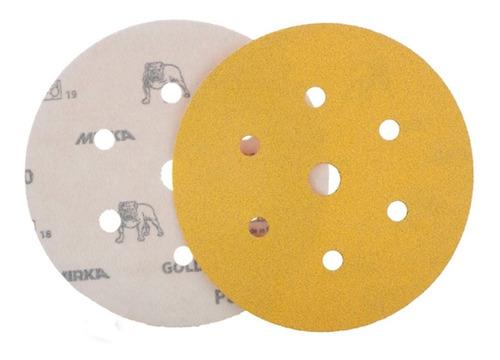 Disco Lixa Hookit Gold 150mm Grana 100 7h (100 Pc) - Mirka